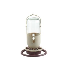 Water Dispenser With Glass Bottle 1 Liter+ 8 Holes (Futter/Wasserspender mit Glasflasche 1 Liter mit 8-Lochrand)