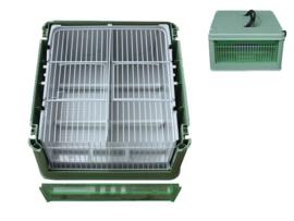 Kunststof transport kooi (Transportbox mit Innenfütterung Kunststoff)