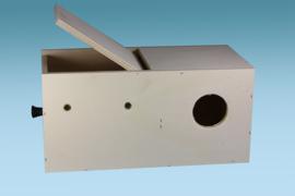 Parkieten nestkast 14,5 x 29,5 x 14,5 cm (Sittichnistkasten waagrecht 14,5 x 29,5 x 14,5 cm)