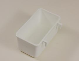 Plastic Voerbakje met haakjes 9x5x4,4cm (Napf mit Plastikhaken rechteckig 9 x 5 x 4,4 cm)