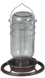 Water Dispenser With Glass Bottle 1 liter (Futter/Wasserspender mit Glasflasche 1 Liter)