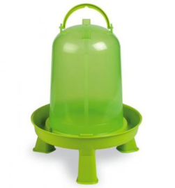 Drinkfontein Inclusief Standaard 1,5 Liter (Geflügeltränke 5 Liter Limette mit Standfüßen)