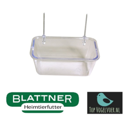 Plastic Food Bowl With Wire Hooks 8 cm(Napf 8 cm mit Drahthaken)