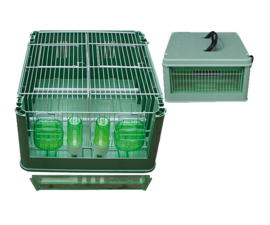 Kunststof transport kooi Economy (Transportbox mit Außenfütterung Kunststoff Economy)