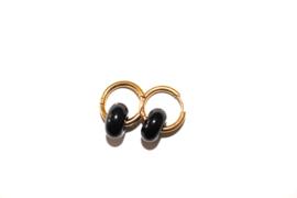 Oorbellen Zwarte Agaat