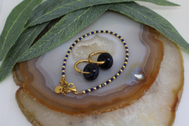 Goldplated setje Lapis Lazuli