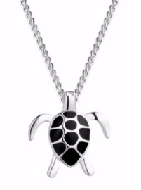 Ketting met schildpad hanger Black