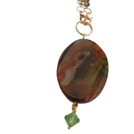 Ketting luxe Opal - ketting goud edelsteen - cadeau vrouw