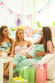 Zwangerschapsketting Baby voetjes goud - zwangerschapsbelletje - sieraad zwangerschap