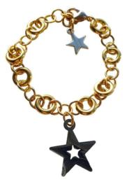 Luxe armband Stars - gouden sterren