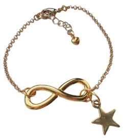 Infinity armband Gold Star