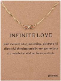Wenskaart Infinite Love - Kaart cadeaumet Infinity hanger