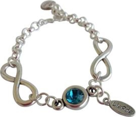 Infinity armband kristal - Swarovski elements