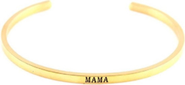 Bangle armband Mama Gold