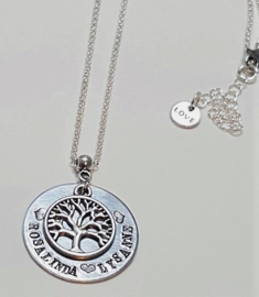 Naam ketting levensboom - naamhanger - levensboom ketting - sieraad cadeau voor moeder