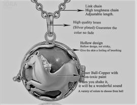Zwangerschapsketting Paard - bola ketting