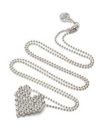 Proud Mama ketting hart zilver - strass