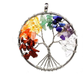 Zilveren levenboom hanger - Tree of Life - levensboom ketting