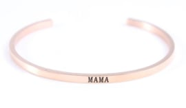 Rose gold Mama bangle armband - armband speciaal voor mama