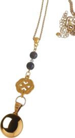 Zwangerschapsketting Infinity - zilver bruin - bola ketting