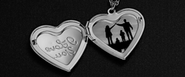 Hart medaillon I Love you - Gouden ketting met hart die open kan om foto of tekst in te doen