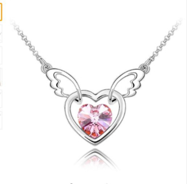 Ketting Angel wing Pink