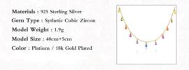 Gouden ketting  Rainbow
