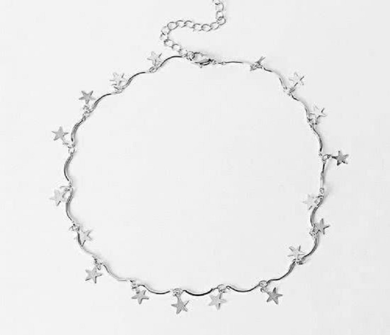 Choker sterren zilver - ketting sterren