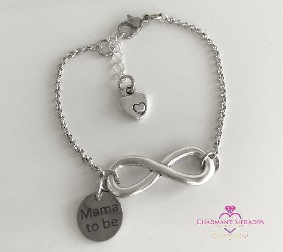 Zwangerschapsarmband -  Mama to Be - Infinity mama armband