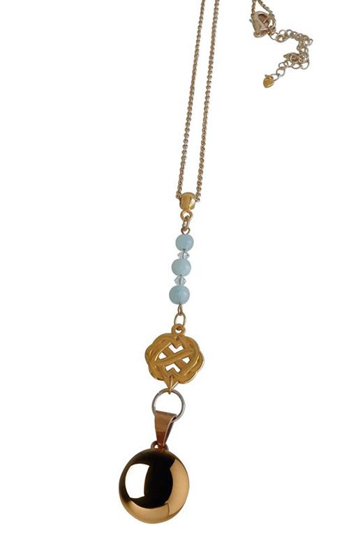 Zwangerschapsketting Infinity -zilver turquoise - bola ketting