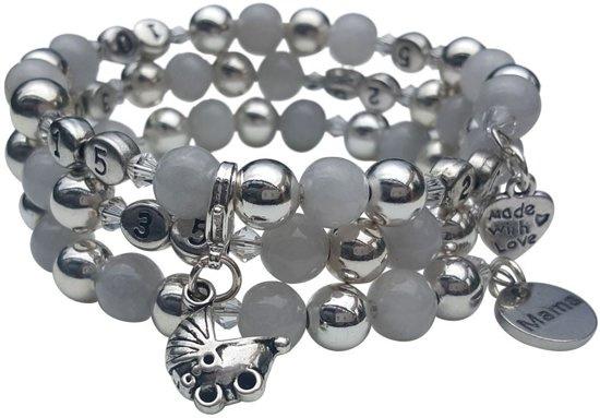 Zwangerschapsarmband Zilver grijs
