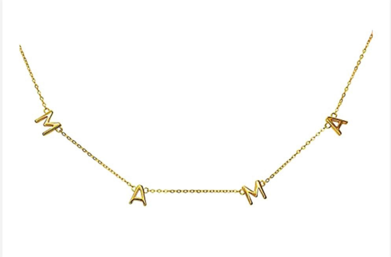 Ketting Mama letters Gold