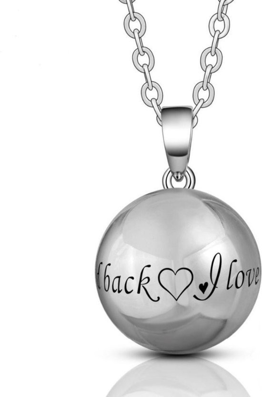 Zwangerschapsketting Love you tot the moon and back - zwangerschapsbelletje - ketting tijdens de zwangerschap