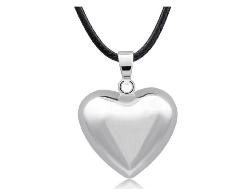 Zwangerschapsketting bola hart - verzilverde hart bola