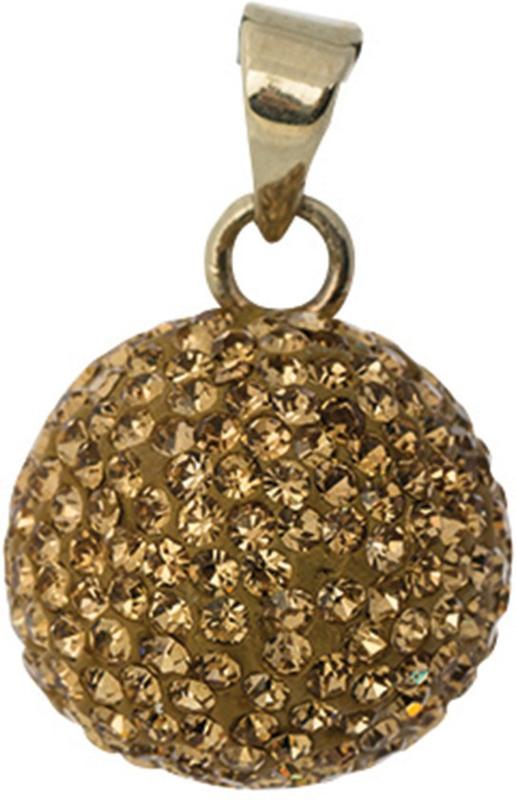 Zwangerschapsketting bola goud glitter
