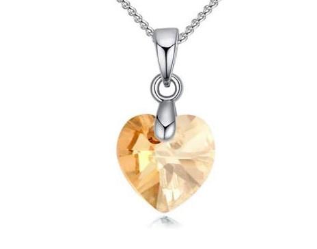 Ketting met Swarovki hartje Gold - Swarovski elements