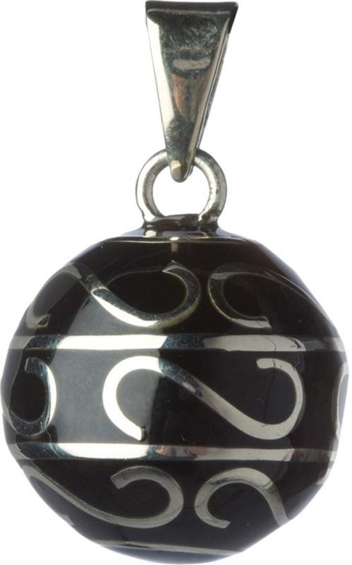 Zwangerschapsketting bola zwart krullen