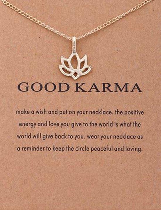 Wenskaart Good Karma - Kaart met ketting Karma