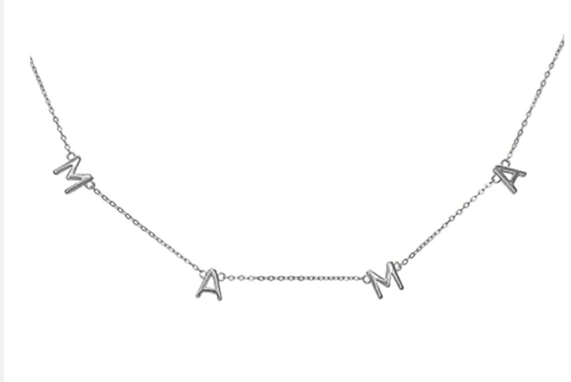 Ketting Mama letters Silver