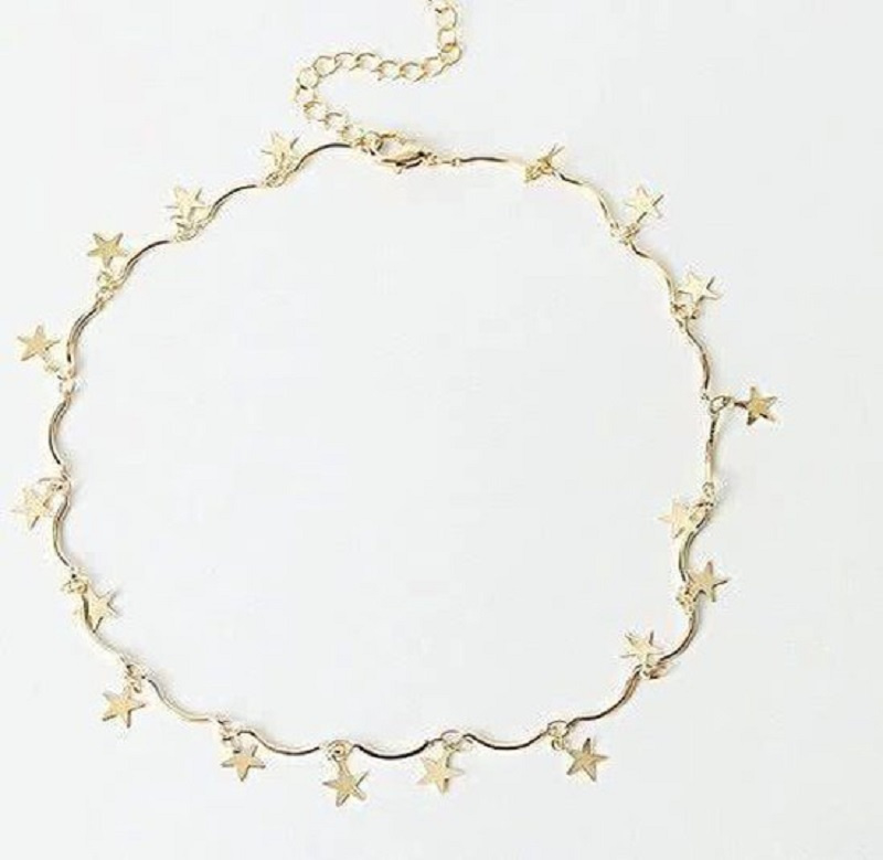 Sterren choker Gold - sterren ketting