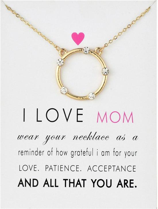 Wenskaart Mama - Kaart met ketting voor moeder