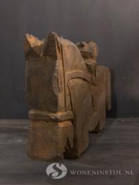 Beeld steen | Ruiter op paard