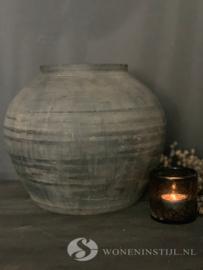 Authentieke Chinese kruik | grijs | Maat L
