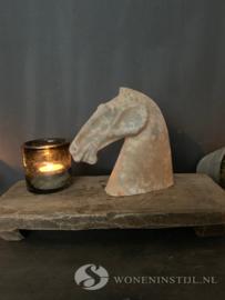 Beeld aardewerk paardenhoofd | Maat S