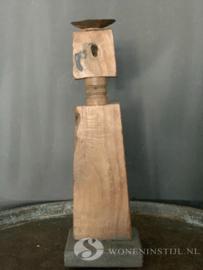 Kandelaar hout | ornament (1)