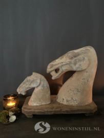 Beeld aardewerk paardenhoofd | Maat L