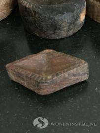 Oud Tempelbakje hout | India (10)