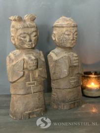 Beeldje Chinese jongen | steen