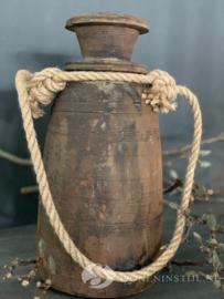 Nepalese kruik met touw | 30 cm (h)