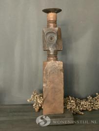 Kandelaar hout | ornament (2)